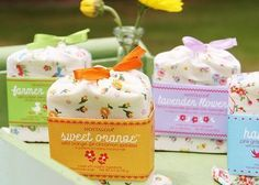 Handmade Soap Packaging | The soap sack is limited edition fabric and reusable.