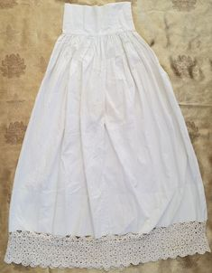 A40 Antique Petticoat Lace Slip Women's Girl's Primitive Costume Reenact #Petticoat Lace Slip, Primitive, Vintage Ladies, Vintage Outfits, Flower Girl Dresses, Costumes, Antique, Wedding Dresses, Clothes