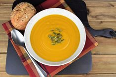 This ginger spiced pumpkin soup is the perfect way to get in the mood for Fall. It's really easy to make and full of wholesome ingredients. With fresh pumpkin, onions, carrots, celery, garlic, and ginger, it's not short on flavor!