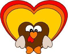 Heart Turkey paper craft