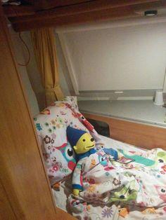 Vakantie avonturen van Pom Pom ;-) (rkbs de Vlieberg, Den Helder) slapen in de caravan