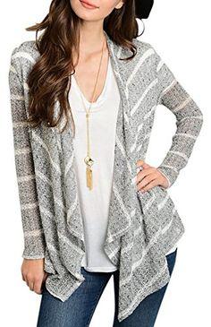 Belle Donne Cardigan For Women Long Sleeve Knitted Long T…