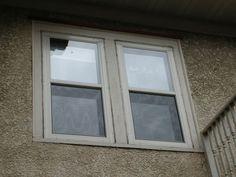 Larson flush mount double hung storm windows, sandstone color
