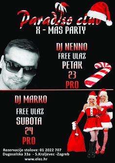 Christmas party Paradiso Club Dj NENNO