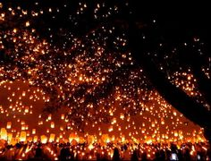 Sky lanterns in Iloilo; set world record Philippines, Iloilo City, Sky Lanterns, Sky Full, World Records, Places To See, Wander, Cool Photos, Bucket