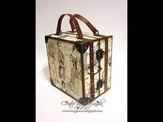 Vintage Style Suitcase with Mini Album Video Tutorial, Part 1 ~ Making the Suitcase - YouTube