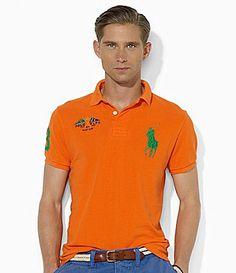 Polo Ralph Lauren ShortSleeved CrossedFlags Mesh Polo Shirt #Dillards