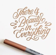 These inspiring examples of hand-lettering, will get you excited whether you're into D.Y everything, just getting into hand-lettering (also check. Calligraphy Doodles, Calligraphy Handwriting, Calligraphy Letters, Typography Letters, Penmanship, Modern Calligraphy Quotes, Brush Pen Calligraphy, Sign Letters, Calligraphy Tutorial