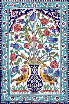 Ceramic Tiles and Panels Çini Karo ve Panolar Mural Wall Art, Tile Murals, Tile Art, Mosaic Art, Islamic Tiles, Islamic Wall Art, Turkish Tiles, Turkish Art, Portuguese Tiles