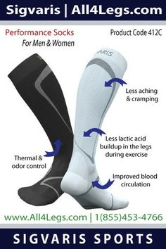 Women's Performance socks at all4legs.com - A growing trend among competitive athletes and weekend warriors is the use of graduated compression socks to help improve their athletic performance and recovery. As the global leader in graduated compression therapy, SIGVARIS creates truly superior sports products featuring true graduated compression for athletes and active people