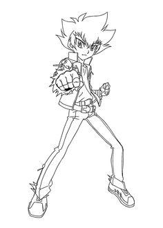 Kyoya Beyblade Coloring Pages