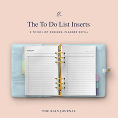 The Rain Journal Printable To Do List Planners - have a look at our huge To Do List Planner Printable library. Find daily, weekly, monthly and yearly checklist, to do list for home, school and work. These are perfect for your binders such as filofax and kikki k.  #printableplanner #planners #printables #printableplanners To Do Lists Printable, Printable Planner, Printables, Fitness Planner, Workout Planner, Desk Stationery, Refillable Planner, Weekly Meal Planner, Office And School Supplies
