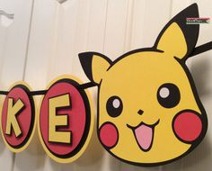 Custom Pokemon Pikachu Party Banner by Flair4Paper on Etsy