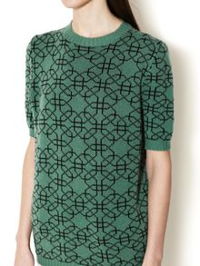 Cashmere Fusing Lines Crewneck Sweater by Marni