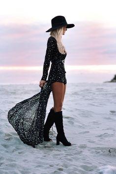 Photography – Bobby Bense Creative Director/Model – Helen Janneson Bense  Outfit Details Superstar Romper| Bindi Wrap Choker... - gypsylovinlight