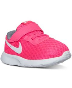 Nike Toddler Girls' Tanjun Casual Velcro® Sneakers from Finish Line - Finish Line Athletic Shoes - Kids & Baby - Macy's
