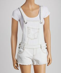 Love this Hot Kiss White Romper by Hot Kiss on #zulily! #zulilyfinds