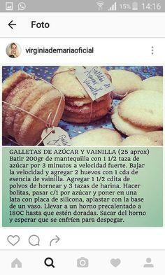 Galletas de azucar y vainilla de Virginia de María