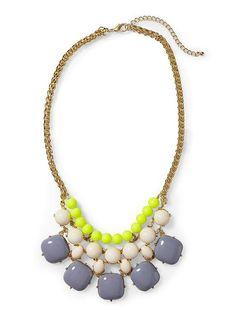 Pim + Larkin Multi Colored Cabochon Necklace