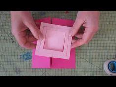 Voici le tuto pour faire une carte imbriqué pour cette carte revoici les dimensions papier de 27x16 cm les plies a 7.5 cm du bord et à 6 cm de l autre coté les cadres sont de 10cm , 9cm et 8cm .... D autres videos ici