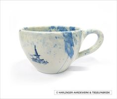 Splashed series - original handmade delftware from Harlingen