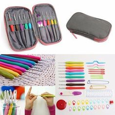 45 Pcs Crochet Needle Hooks Set Organiser Case Accessories,Craft Tools for the all around crocheter.