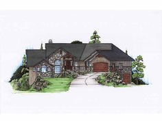 Craftsman House Plan with 2282 Square Feet and 2 Bedrooms(s) from Dream Home Source | House Plan Code DHSW75136