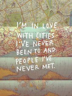estoy enamorado de ciudades estado y la gente que nunca he conocido