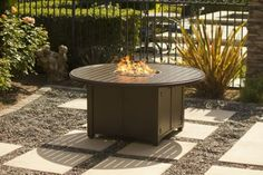 Tropitone Furniture Round Firepit Table