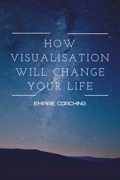Arguably the most powerful mind tool out there. Visualisation is used by elite athletes & high-performers to predict their outcome & allow them to perform under pressure. Under Pressure, Stress Relief, Your Life, Self Help, You Changed, Athletes, Personal Development, Need To Know, Coaching
