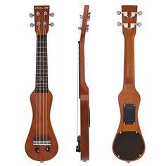 Kmise Soprano 23 Inch Acoustic Electric Ukulele $79.99