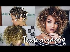TEXTURIZAÇÃO COM PAPEL ALUMÍNIO - Usando gel de queratina Salon Line - YouTube Rapunzel, Hair Makeup, Dreadlocks, Hair Styles, Beauty, Youtube, Diy, Cropped Hairstyles, Short Curls