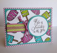 June 2015 - Cute and summery cards and scrapbook pages with #CTMH Brushed & Paper Fundamentals