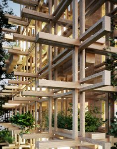 Garden House by PendaThe design is defined by a structural grid, which works as a sunshade, balconies and vertical gardens.