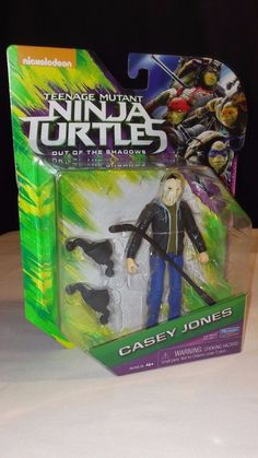 2016 TMNT OUT OF THE SHADOWS FIGURE CASEY JONES NEW #PlaymatesToys