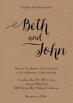kraft wedding invitation suite / printable wedding by paperhive
