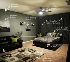 Modern Bachelor's Bedroom