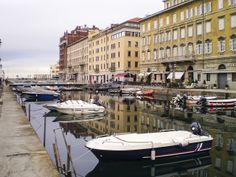 The canals of Trieste. Trieste, Italy.