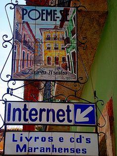 São Luís ,Maranhao, Brasil by marcia benetti ~ 21st century bookshop ~ the Cyber Cafe