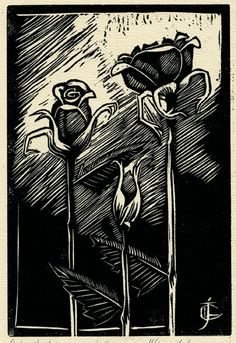 linoleum print by Jennifer Broschinsky.