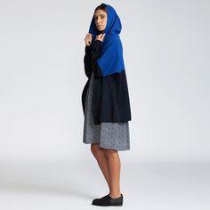 1+1 sale Knit Hoodie Cardigan blue Hoodie Oversize by AndyVeEirn