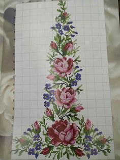 Cutwork Embroidery, Embroidery Patterns Free, Cross Stitch Embroidery, Embroidery Designs, Knitting Patterns, Cross Stitch Bookmarks, Cross Stitch Rose, Cross Stitch Flowers, Cross Stitch Designs