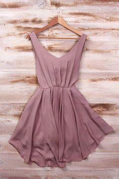 The Vogue Fashion: Smart Mauve Silk Mini Dress The Dress, Dress Skirt, Skater Dress, Sundress Outfit, Dress Vest, Pretty Dresses, Beautiful Dresses, Mauve Dress, Dusty Rose Dress