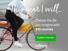 Celebrate udemy new year offer at $10 online course. This is biggest sale of udemy from 1st Jan 2017 to 11th Jan 2017 in new year. Hurry up! don't miss it..