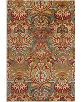 Floral Medallion Tufted Wool Rug Multi 6' x 9