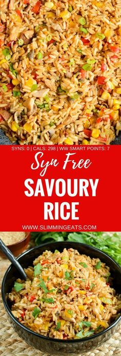 Slimming Eats Syn Free Savoury Rice - gluten free, dairy free, Slimming World an. - shed fat - Slimming Eats Syn Free Savoury Rice – gluten free, dairy free, Slimming World and Weight Watchers - Slimming World Lunch Ideas, Slimming World Free, Slimming World Dinners, Slimming World Recipes Syn Free, Slimming Eats, Slimming World Noodles, Slimming World Curry, Slimming World Syn Values, Slimming World Syns