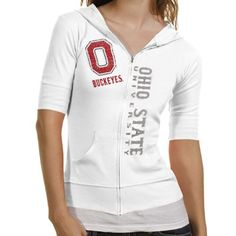 Ohio State Buckeyes Ladies Duds Rip Zip Hoodie - White