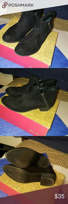 """American Rag """"Abby"""" Booties Very good condition  Suede  Double working zippers American Rag Shoes Ankle Boots & Booties"""