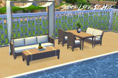 Sims 4 CC's - The Best: Dining & Living Set converted by Sims Like It Hot