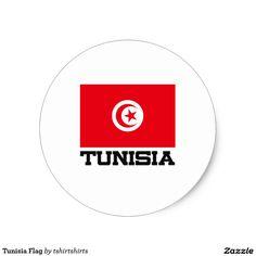 Tunisia Flag Classic Round Sticker